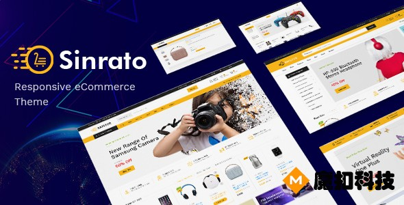 Sinrato Electronics Opencart主题模板 自适应手机数码 Opencart 3.0.0.x 模板